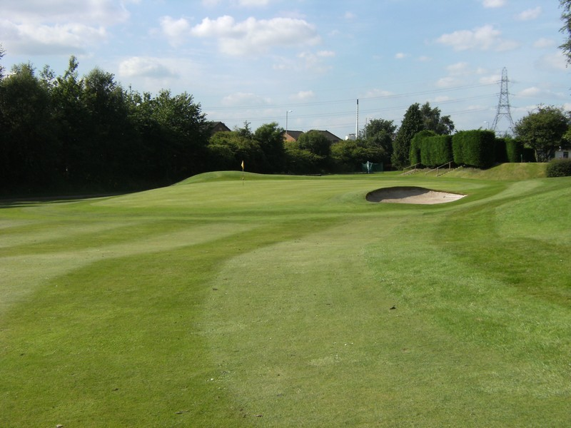 The 6th green approach