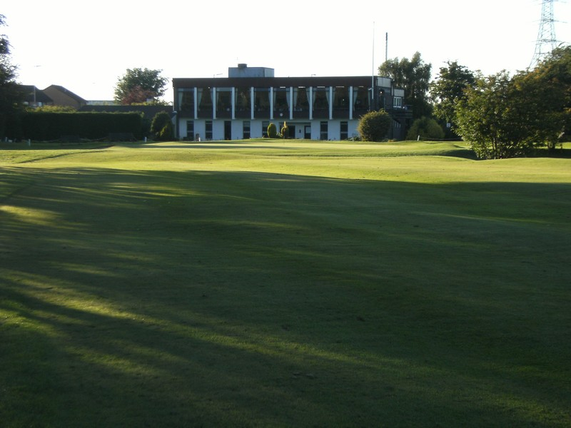 View towards the clubhouse at 9th hole